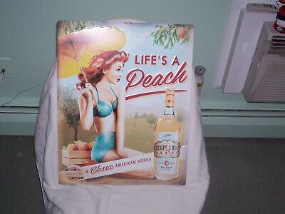 Deep Eddy Pin-Up Tin Sign......raise A Glass.....dive In.
