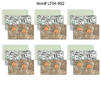 Money Coins All-Weather Lenticular Luggage Bag Travel Tag, Set of 6 #LT04-952#