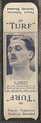 Carreras-Uncut Single Turf Slide-Olympics-#20- Running - W Roberts