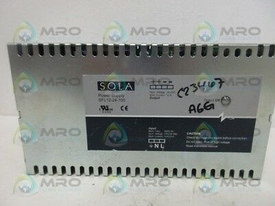 Sola Sfl12-24-100 Power Supply *used*
