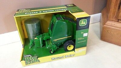 John Deere JD Toy 854 Round Baler 1:16 Big Farm Tractor Implement ERTL Hay Tomy