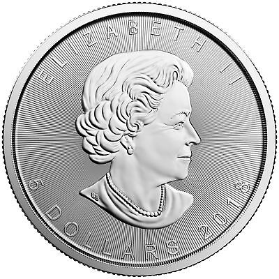 2018 $5 1oz Canadian Silver Maple Leaf Coins .9999 Fine BU