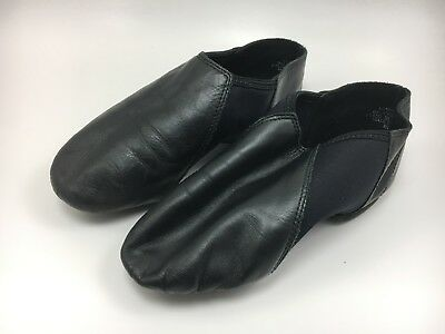 Theatricals Black Leather Upper Jazz Shoes Kids Size 8M