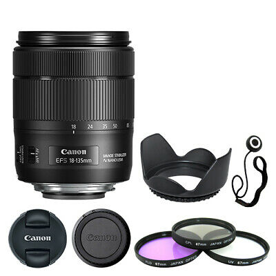 Canon EF-S 18-135mm f/3.5-5.6 IS USM Lens + Deluxe Accessory Kit