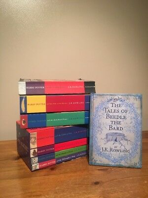 COMPLETE FULL SET OF 7 HARRY POTTER BOOKS COLLECTION + Beedle Of The Bard (2)