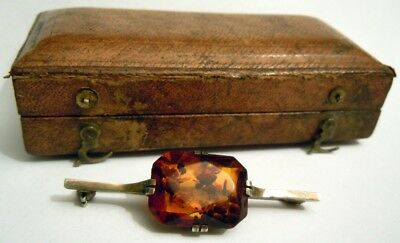 FABERGE Antique Imperial RUSSIAN Brooch with very Big Natural Baltic Amber , 84