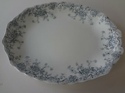 Antique Wood & Son Beatrice Blue  Oval Serving Platter 16""