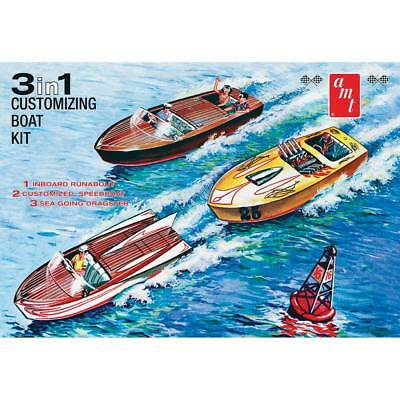 NEW AMT 1/25 Customizing Boat 3 in 1 AMT1056/12