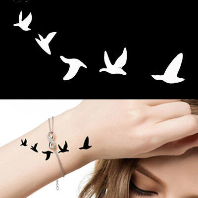 Tattoo Temporary Stencils Birds Flying Mandala Henna Glitter Template Make Up