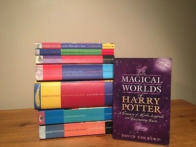 COMPLETE FULL SET OF 7 HARRY POTTER BOOKS COLLECTION + Magical Worlds (4)