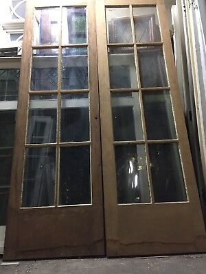"French Doors Old antique vintage 8 Light Striped 80"" X 24"""