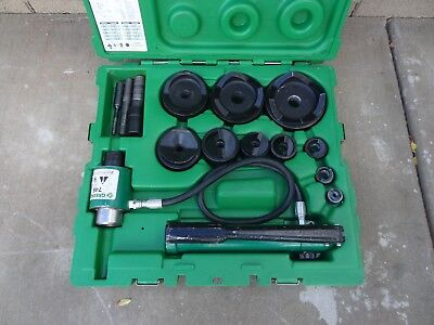 "Greenlee 7310Sb 1/2"" - 4"" Hydraulic Knockout Punch Driver Set"