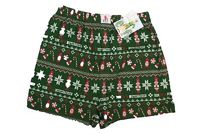 New Men Elf Boxers Briefs Green Christmas Santa Claus Candy Cane Size S M