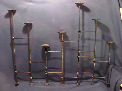 7 Candle Candelabra (Rare) With 7 Heights, Hinged Multiple Adjustable Positions.