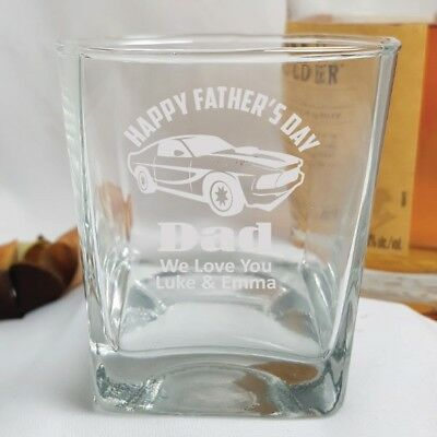 Father's Day Engraved Scotch Glass  - Add a Name & Message