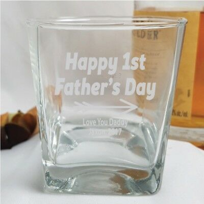 First Fathers Day Engraved Scotch Glass  - Add a Name & Message