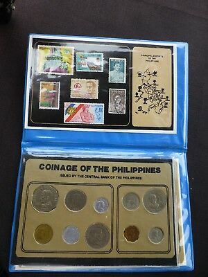 coins and stamps of the Philippines set 80's 90's as pictured free ship cont USA