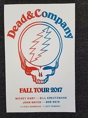 Dead and Company co. 11x17 2017 fall tour promo Grateful dead concert poster