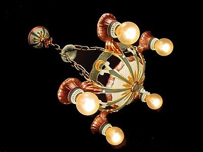 "Rare ~ ""lincoln Company"" ~ Art Deco Antique  Vintage Chandelier Light Fixture"