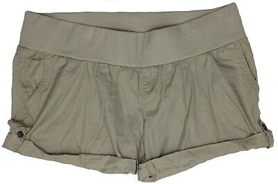 NEW Maternity Shorts Tan Khaki Black Women's Cotton Liz Lange NWT Size XL XXL