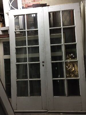 "French Doors old antique vintage 79 1/2"" X 27 1/2   10 Light"