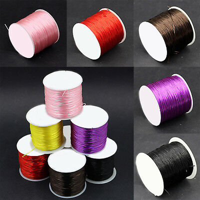 60M Strong Crystal Elastic Cord String Rope Wire For Bracelet 0.8mm DIY New UP