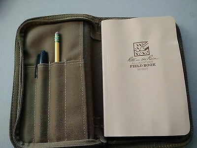 USMC military issue Rite in the Rain All Weather Field Book w/ Zippered Case