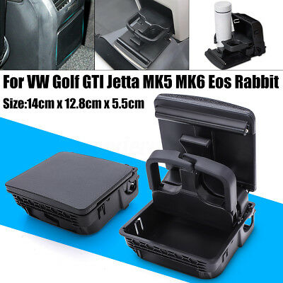 Rear Armrest Cup Holder Central Console For VW Golf GTI Jetta MK5 MK6 EOS -UK