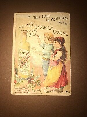 Victorian Trade Card - Hoyts German Cologne Lowell, JH Wilhelm South Easton, PA