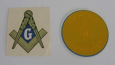 2 Masonic Car Decals or Stickers