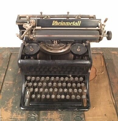 1920's RHEINMETALL Typewriter Model 9 Antique Vintage in GREAT CONDITION