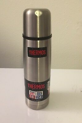 NEW Thermos Vacuum Insulated Compact Bottle 16oz Stainless Steel Hot Cold