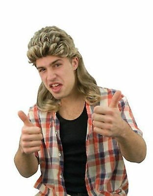 Awesome 70s 80s Men Long Party Costume Mullet Wigs Costume Accessory