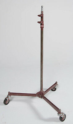 Mole Richardson 2 Riser Rolling Baby Light Stand Collapsible TYPE 40651A