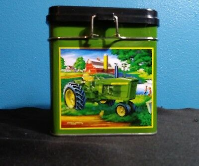 John Deere Decorative Tin Kitchen Container / Canister Euc!!