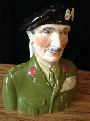 "Wood & Sons VTG Portrait Jug 6"" tall -- Lord Montgomery Pride Of Britain"