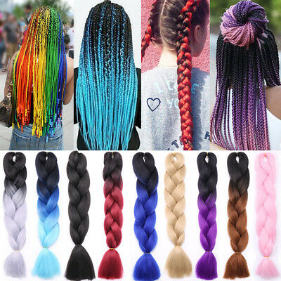 24 inch Ombre Xpression Jumbo Kanekalo Synthetic Braiding Hair Extensions 100g