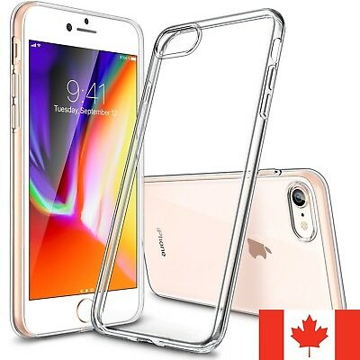 For iPhone 7 & iPhone 8 Case - Clear Thin Soft TPU Silicone Back Cover