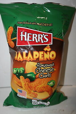 HERR'S JALAPENO Flavored Cheese Curls 198.5g bag