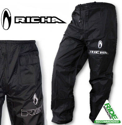 Richa Rain Waterproof Warrior Motorcycle Trousers Pants black