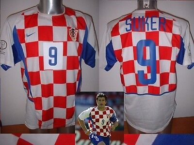 Croatia SUKER Nike Shirt Jersey Football Soccer Adult L Trikot Arsenal Top 2002