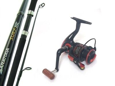SARATOGA EGI 8'0 9kg Squid Fibreglass Spinning Fishing Rod and Reel Combo