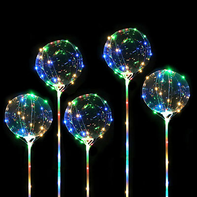 "1 Palloncino Luminoso Led Multicolor Crystal Ballon 18"" Pollici"
