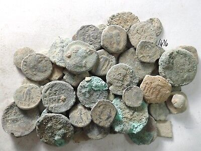 Lot of 50 Lower Quality Uncleaned Crusty Ancient Greek/Roman Coins; 113.6 Grams!