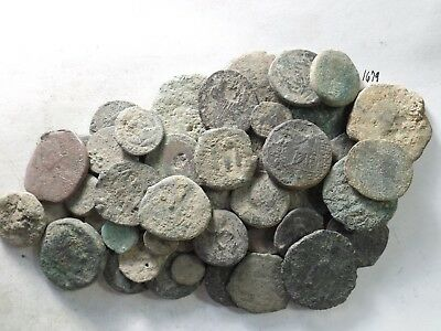 Lot of 50 Low Quality Uncleaned Crusty Ancient Greek/Roman Coins; 292.1 Grams!