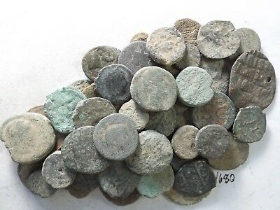 Lot of 50 Low Quality Uncleaned Crusty Ancient Greek/Roman Coins; 197.6 Grams!