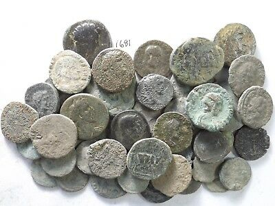 Lot of 45 Lower Quality Uncleaned/Cleaned Ancient Roman Coins; 185.2 Grams!