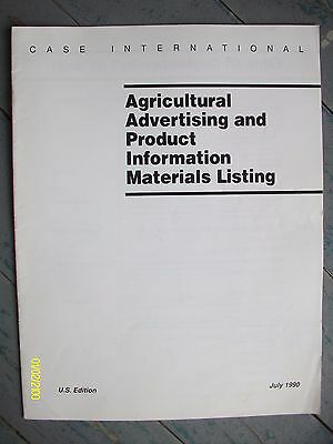 Rare HTF Vintage Case IH Agricultural Advertising Product Info. Listing Booklet