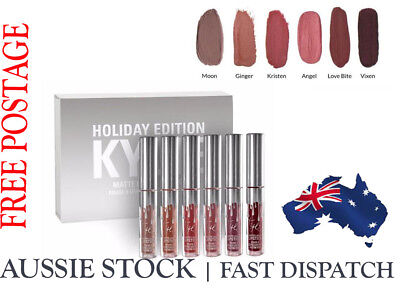 Kylie Jenner Holiday Edition LipGloss Matte Lipstick Set with retail pkg (6PCS)