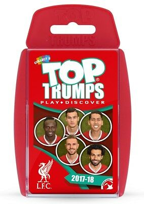 Top Trumps Liverpool Football Club Lfc 2017/18 Card Game Brand New
